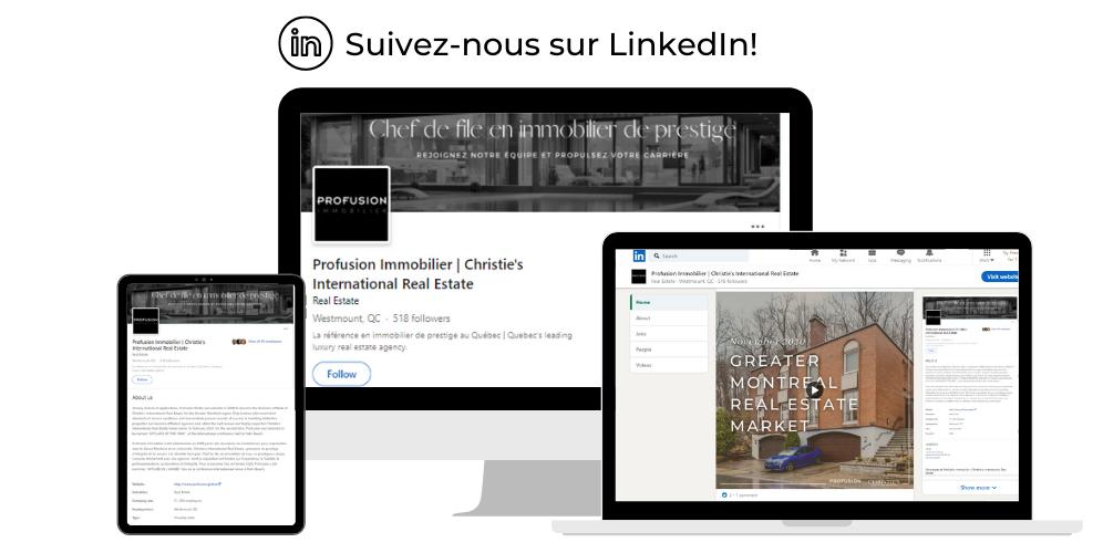 Trouver Profusion Immobilier sur LinkedIn!